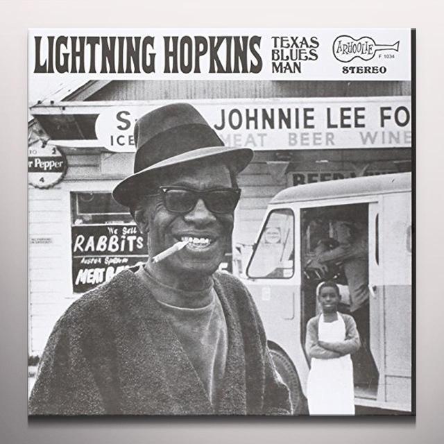 Lightning Hopkins TEXAS BLUES MAN Vinyl Record - Colored Vinyl