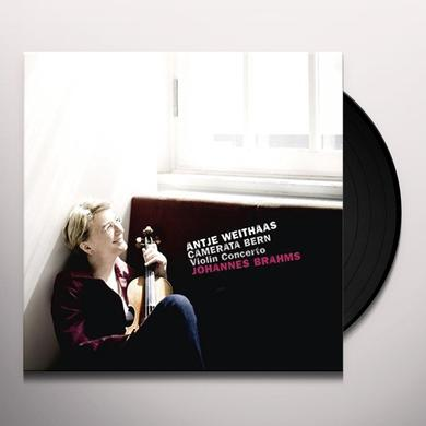 Brahms / Antje Weithaas VIOLIN CONCERTO Vinyl Record