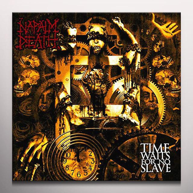 Napalm Death TIME WAITS FOR NO SLAVE: SPLATTER VINYL Vinyl Record - Colored Vinyl