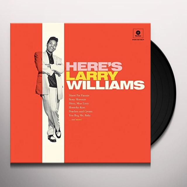 HERE'S LARRY WILLIAMS + 2 BONUS TRACKS Vinyl Record - 180 Gram Pressing, Spain Release