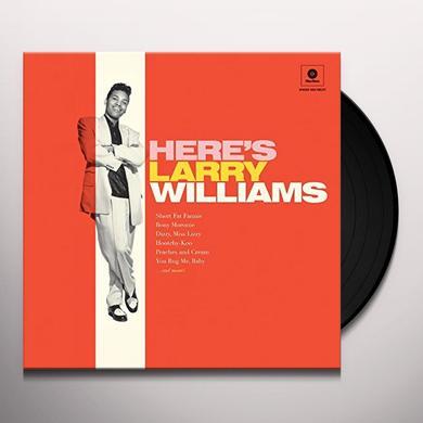 HERE'S LARRY WILLIAMS + 2 BONUS TRACKS Vinyl Record - 180 Gram Pressing, Spain Import