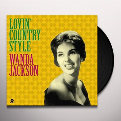Wanda Jackson LOVIN COUNTRY STYLE + 3 BONUS TRACKS Vinyl Record - 180 Gram Pressing, Spain Import