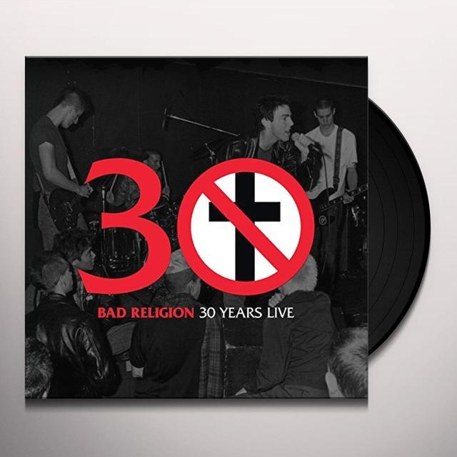 Bad Religion 30 YEARS LIVE Vinyl Record - UK Import