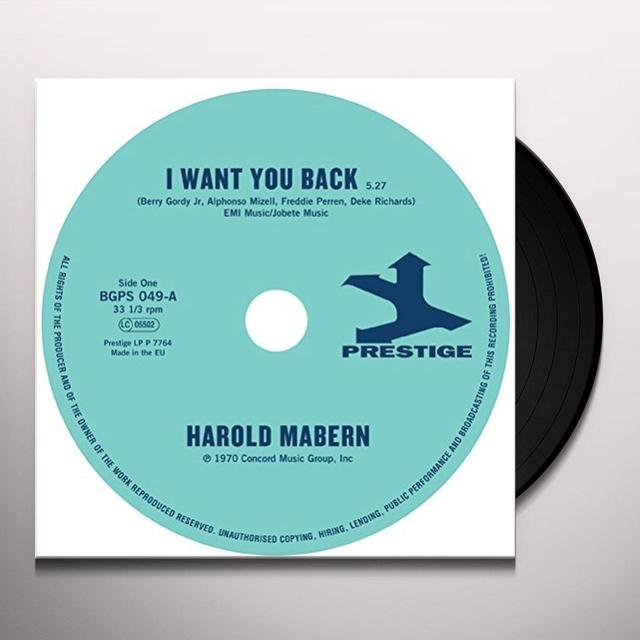 Harold Mabern / Funk Inc I WANT YOU BACK / SISTER JANIE Vinyl Record - UK Import