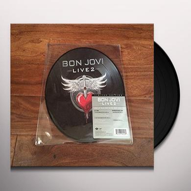 Bon Jovi LIVE 2 Vinyl Record - Canada Import