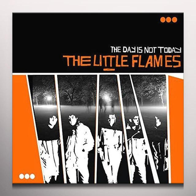 LITTLE FLAMES DAY IS NOT TODAY Vinyl Record - Colored Vinyl, Orange Vinyl, UK Import