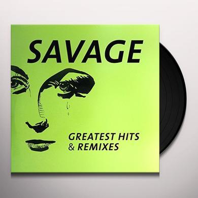 Savage GREATEST HITS & REMIXES Vinyl Record