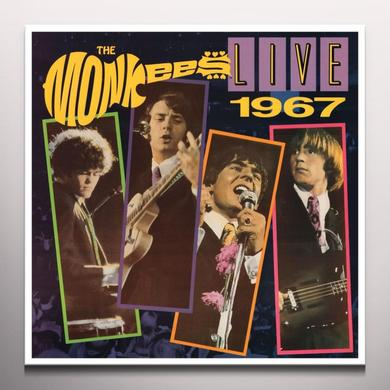 Monkees LIVE 1967 Vinyl Record - Colored Vinyl, Gatefold Sleeve, Limited Edition, 180 Gram Pressing, Red Vinyl