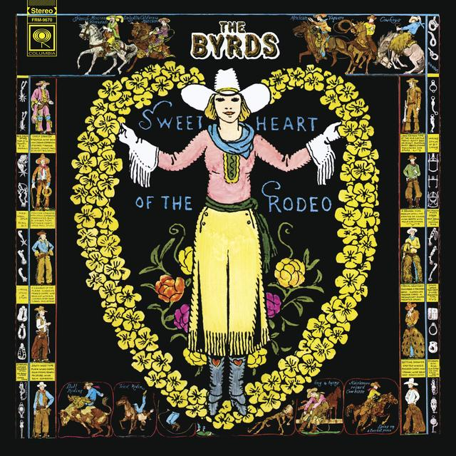 Byrds SWEETHEART OF THE RODEO Vinyl Record - Colored Vinyl, Gatefold Sleeve, Gold Disc, Limited Edition