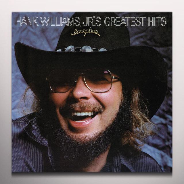Hank Williams, Jr. GREATEST HITS Vinyl Record - Blue Vinyl, Colored Vinyl, Red Vinyl