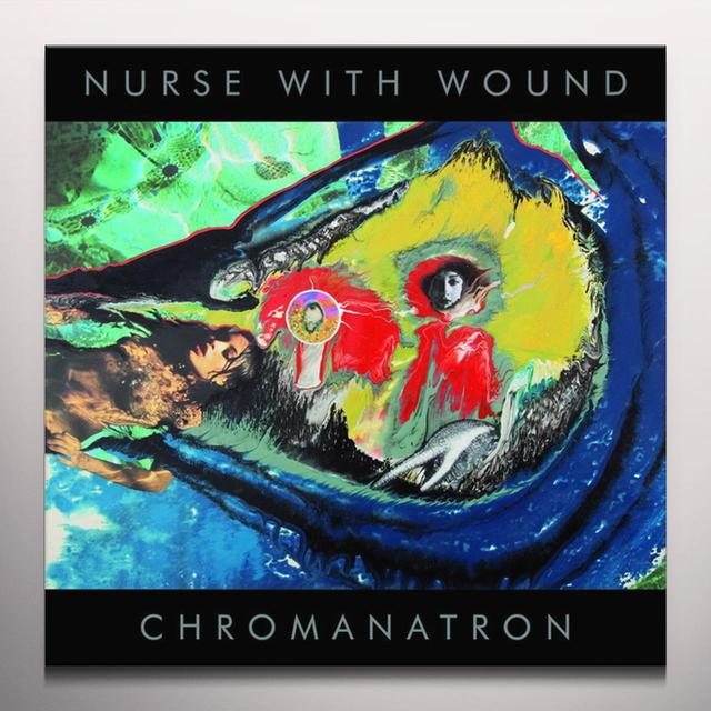 Nurse With Wound CHROMANATRON (RED AND GRAY VINYL) Vinyl Record - Colored Vinyl