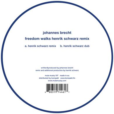 Johannes Brecht FREEDOM WALKS HENRIK SCHWARZ REMIX Vinyl Record
