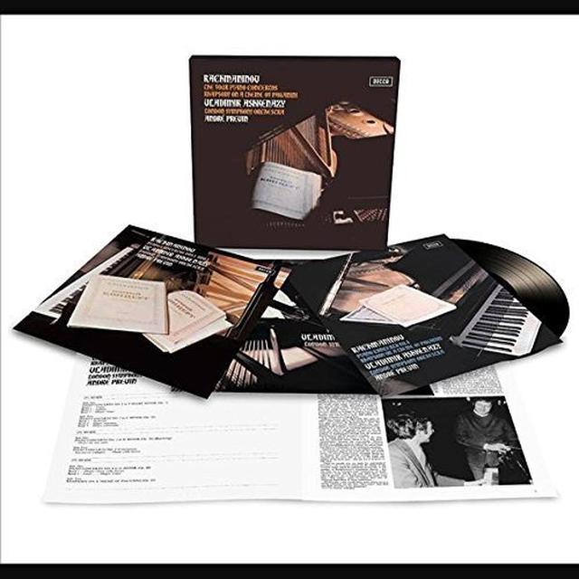 RACHMANINOFF / ASHKENAZY / PREVIN / LSO PIANO CONCERTOS / PAGANINI RHAPSODY Vinyl Record - 180 Gram Pressing