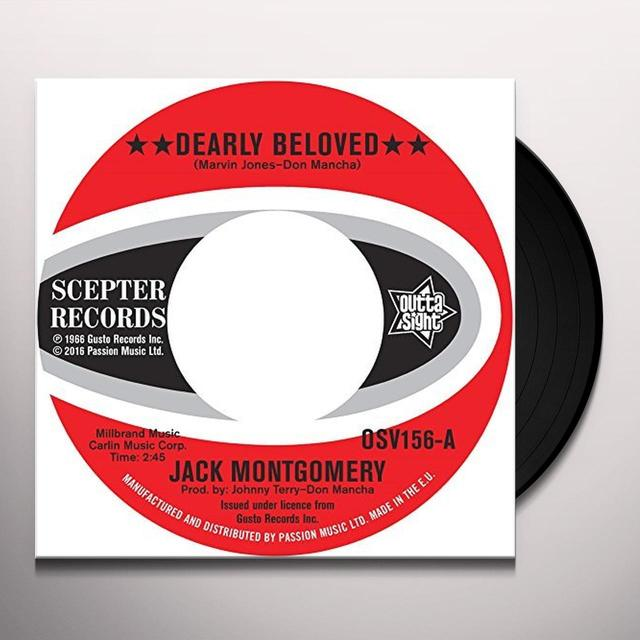 Jack Montgomery DEARLY BELOVED / DO YOU BELIEVE IT Vinyl Record - UK Import