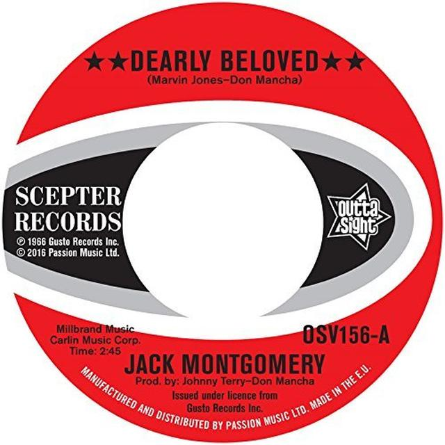 Jack Montgomery DEARLY BELOVED / DO YOU BELIEVE IT Vinyl Record