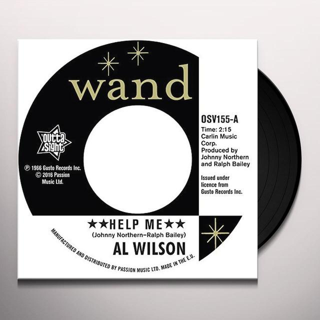 Al Wilson HELP ME Vinyl Record - UK Import
