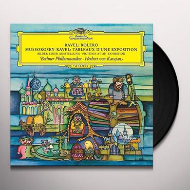 MUSSORGSKY / KARAJAN / BERLINER PHILHARMONIKER PICTURES AT AN EXHIBITION / RAVEL: BOLERO Vinyl Record - 180 Gram Pressing