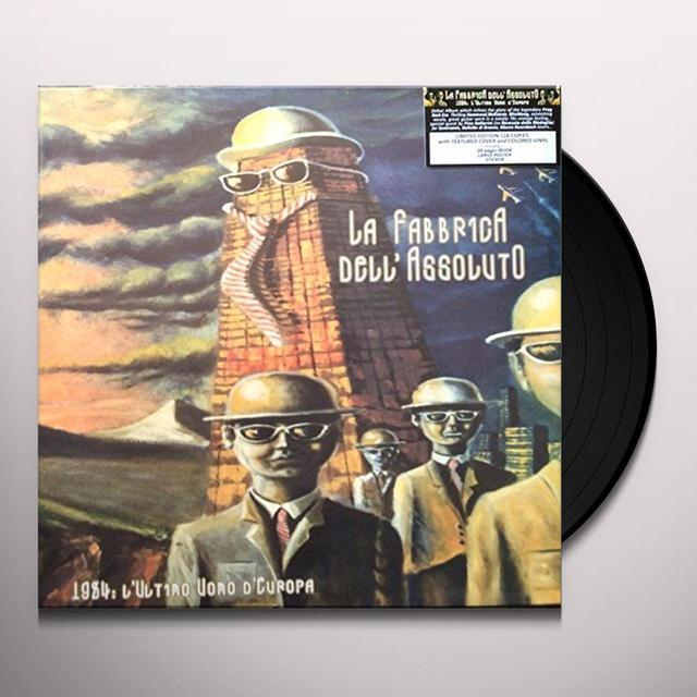 LA FABBRICA DELL'ASSOLUTO 1984: L'ULTIMO UOMO D'EUROPA Vinyl Record