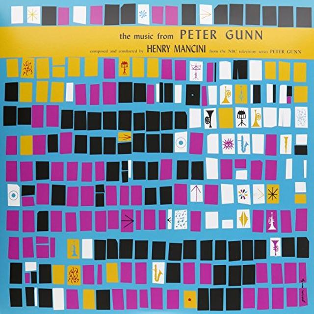 Henry Mancini MUSIC FROM PETER GUNN (ORANGE VINYL) / O.S.T. Vinyl Record - UK Import