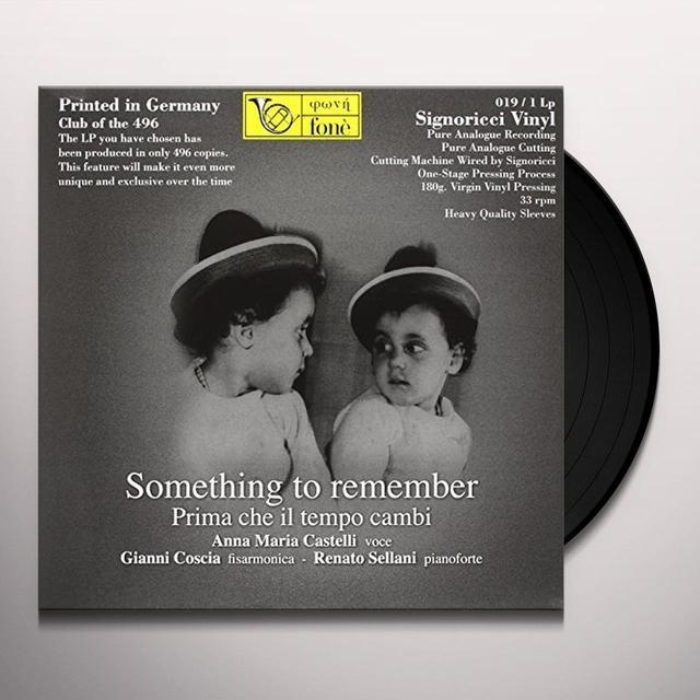 COSCIA / SELLANI / CASTELLI SOMETHING TO REMEMBER Vinyl Record