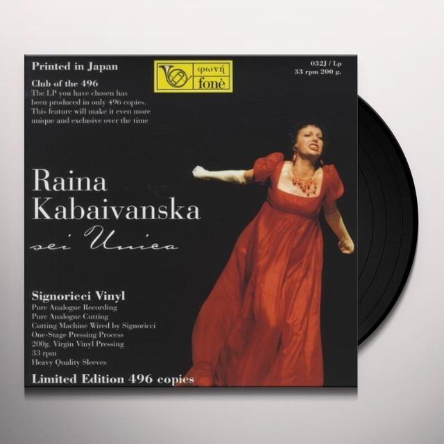 Raina Kabaivanska SEI UNICA Vinyl Record - 180 Gram Pressing, Italy Import