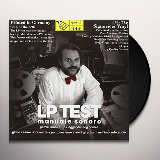 Giulio Cesare Ricci LP TEST - MANUALE SONORO Vinyl Record - 180 Gram Pressing, Italy Import