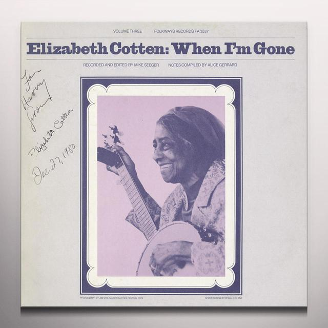 Elizabeth Cotten WHEN I'M GONE Vinyl Record - Colored Vinyl