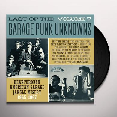 LAST OF THE GARAGE PUNK UNKNOWNS 7 / VARIOUS Vinyl Record