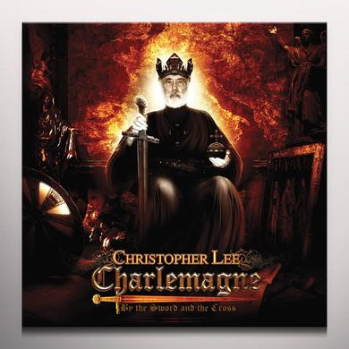 Christopher Lee BY THE SWORD & THE CROSS Vinyl Record - Colored Vinyl, Gold Vinyl, UK Import