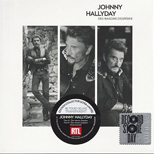 Johnny Hallyday DES RAISONS D'ESPERER Vinyl Record