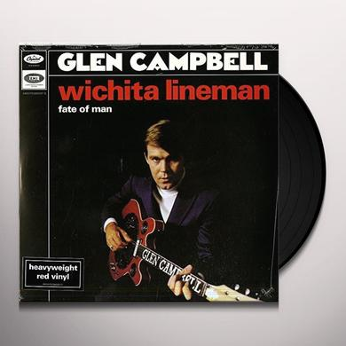 Glen Campbell WICHITA LINEMAN/FATE OF MAN Vinyl Record