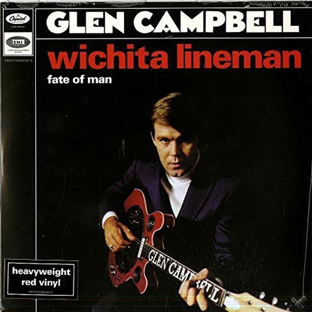 Glen Campbell WICHITA LINEMAN/FATE OF MAN Vinyl Record - Holland Import