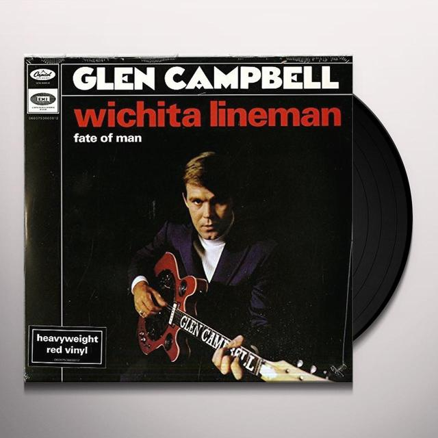 Glen Campbell WICHITA LINEMAN/FATE OF MAN Vinyl Record - Holland Import