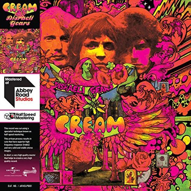 Cream DISRAELI GEARS - HALF SPEED (HK) Vinyl Record