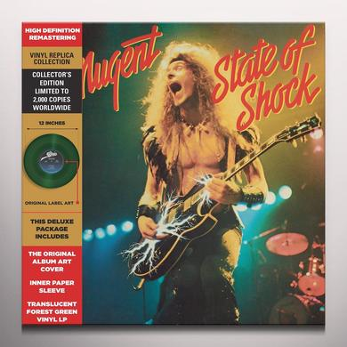 Ted Nugent STATE OF SHOCK Vinyl Record - Colored Vinyl, Green Vinyl, Limited Edition, Remastered