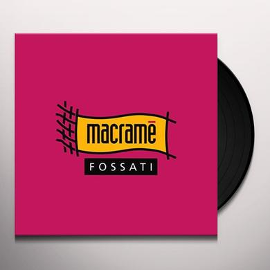 Ivano Fossati MACRAME Vinyl Record - Italy Import