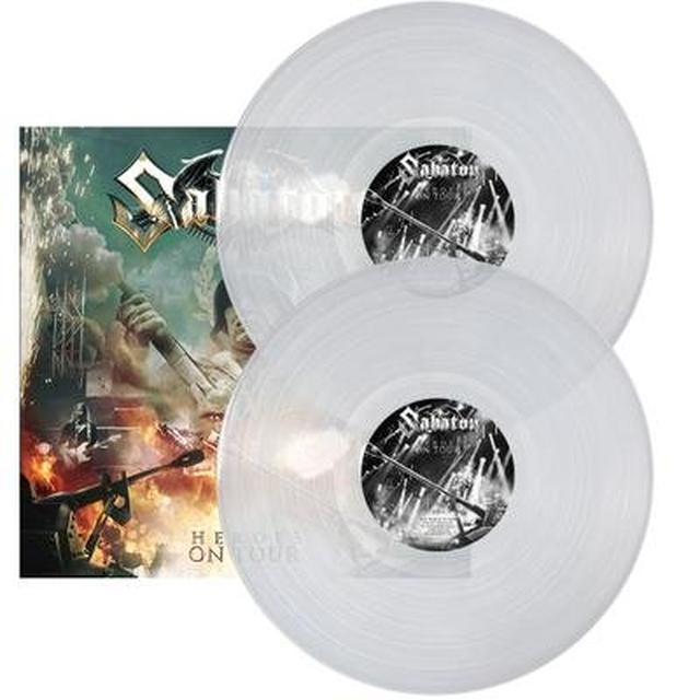 Sabaton HEROES ON TOUR  (GER) Vinyl Record - Clear Vinyl