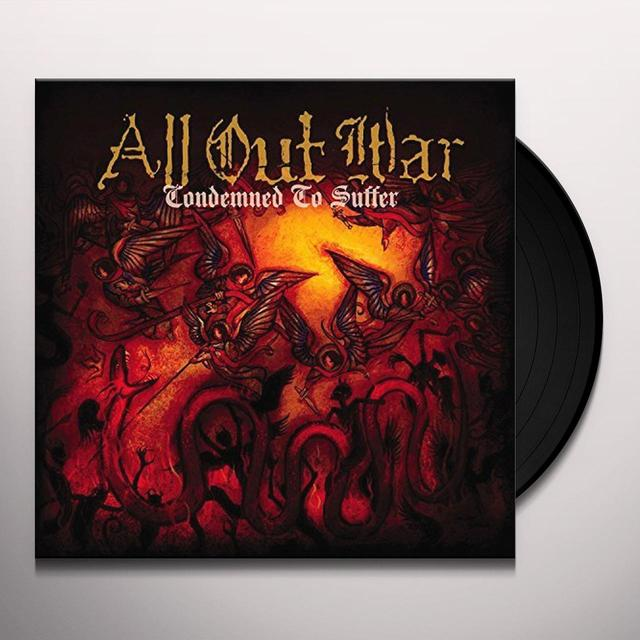 All Out War CONDEMNED TO SUFFER Vinyl Record