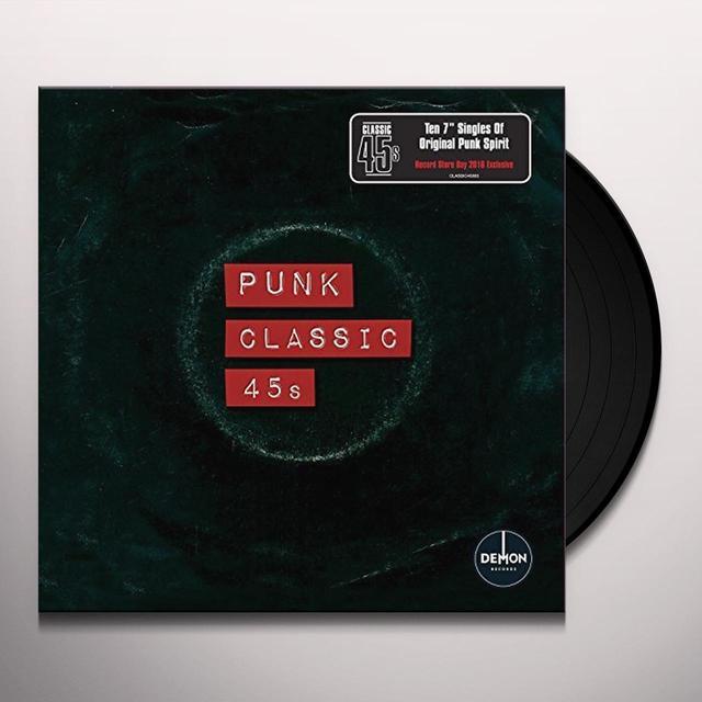 CLASSIC 45'S: PUNK / VARIOUS (BOX) (UK) CLASSIC 45'S: PUNK / VARIOUS (BOX) Vinyl Record - UK Import
