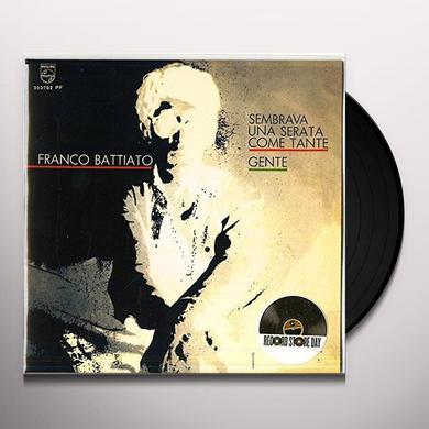 Franco Battiato SEMBRAVA UNA SERATA COME TANTE/GENTE Vinyl Record - Italy Import