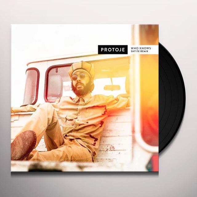 Protoje WHO KNOWS (SHY FX REMIX) Vinyl Record