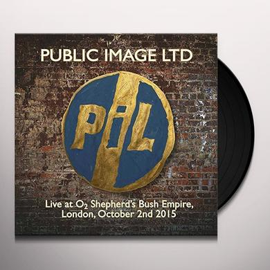Public Image Ltd ( Pil ) LIVE AT O2 SHEPHERDS BUSH EMPIRE Vinyl Record - Italy Release