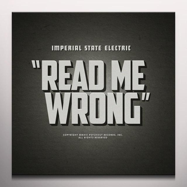Imperial State Electric READ ME WRONG Vinyl Record - Gray Vinyl