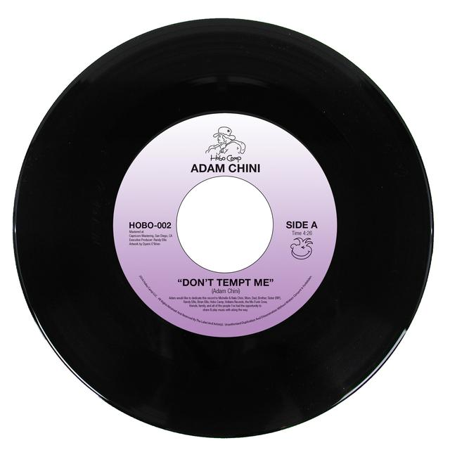 Adam Chini DON'T TEMPT ME / LET THE NIGHT SLIP AWAY Vinyl Record