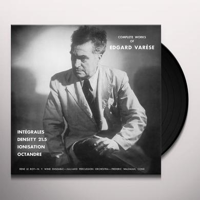 Edgard Varese COMPLETE WORKS Vinyl Record