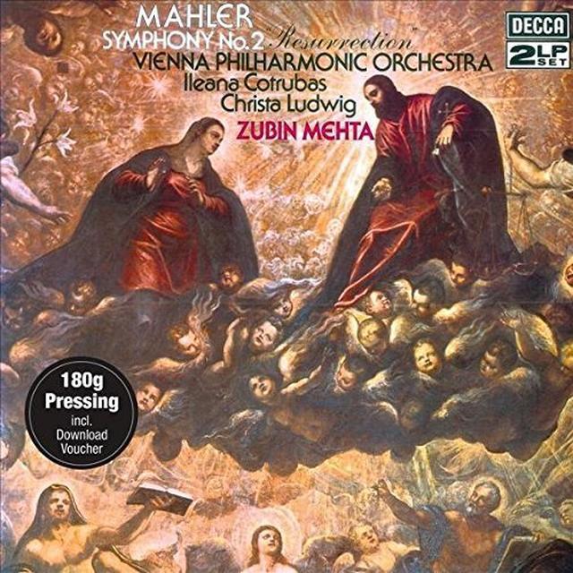 MAHLER / MEHTA / WIENER PHILHARMONIKER SYMPHONY NO 2 - RESURRECTION Vinyl Record