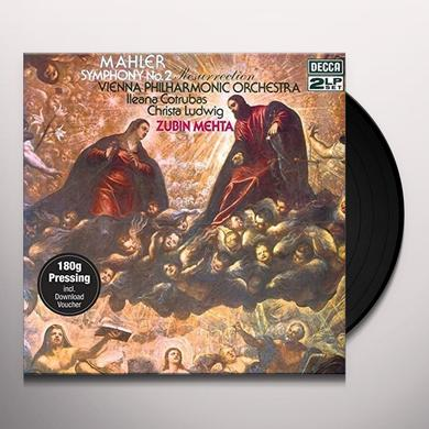 MAHLER / MEHTA / WIENER PHILHARMONIKER SYMPHONY NO 2 - RESURRECTION Vinyl Record - 180 Gram Pressing