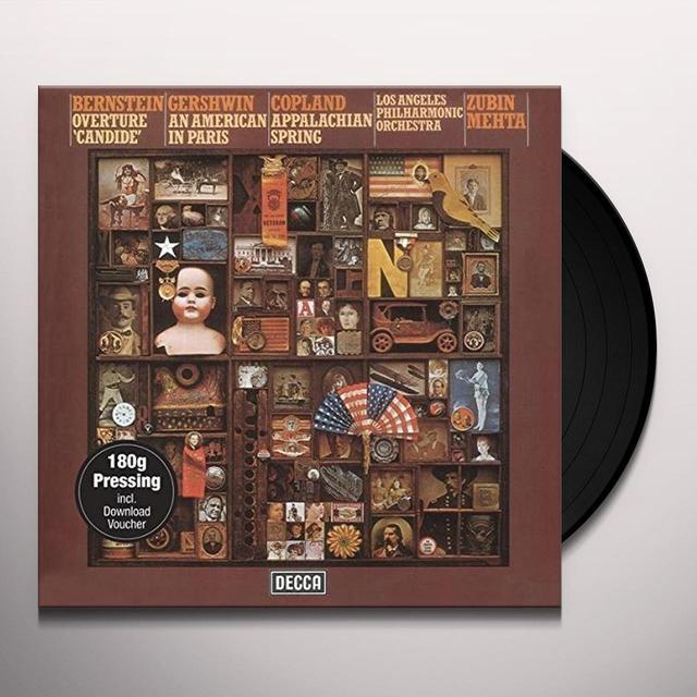 MEHTA / LOS ANGELES PHILHARMONIC MEHTA CONDUCTS BERNSTEIN GERSHWIN & COPLAND Vinyl Record - 180 Gram Pressing