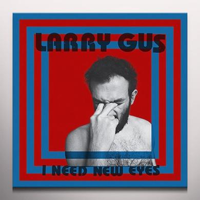 Larry Gus I NEED NEW EYES Vinyl Record - Blue Vinyl, Colored Vinyl