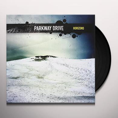 Parkway Drive HORIZONS (TRANSPARENT BLUE WITH YELLOW SPLATTER) Vinyl Record